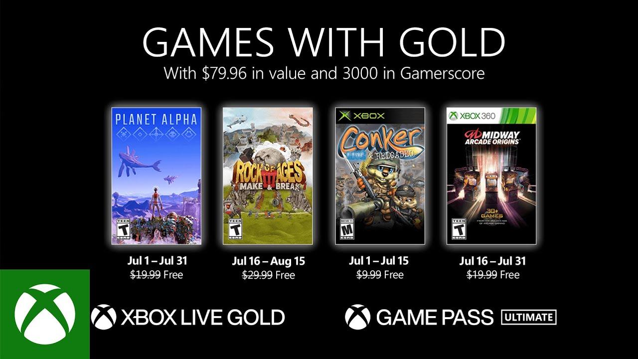 Xbox Live Gold — Июль 2021