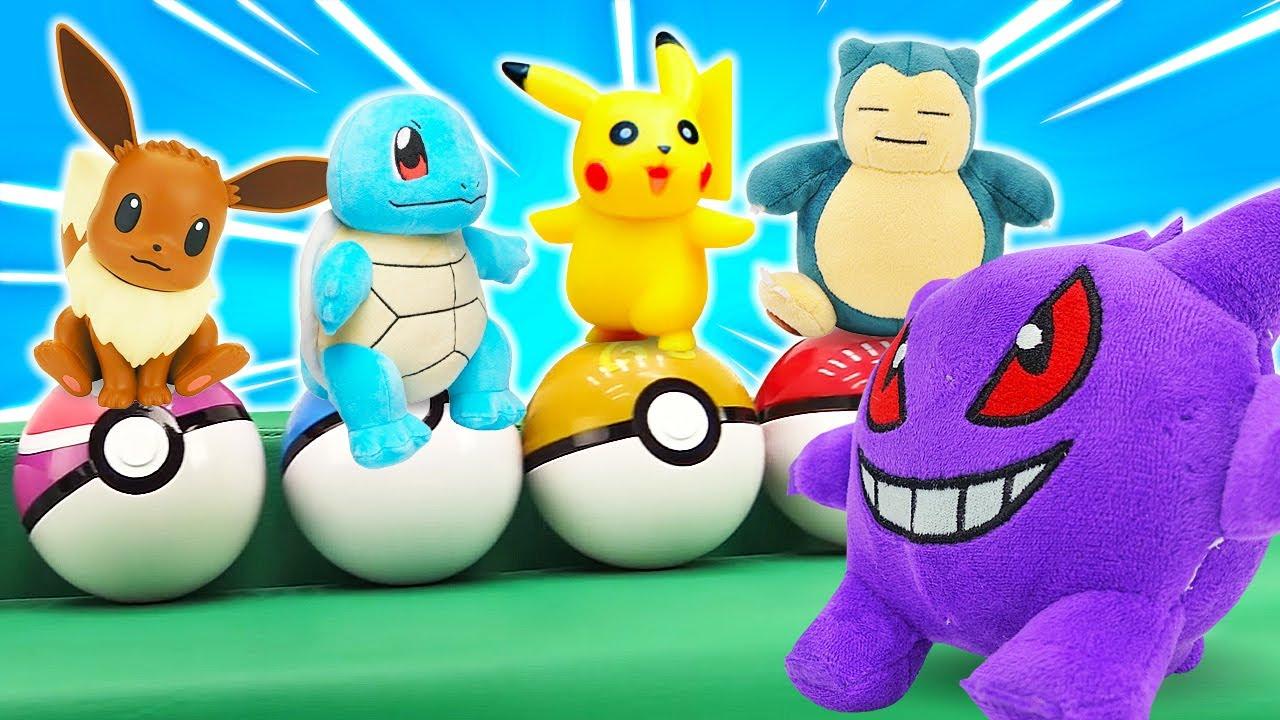 Покемоны в видео сборнике — Пикачу и друзья против Генгара! Обзор и Эволюция Pokemon! — Игры битвы